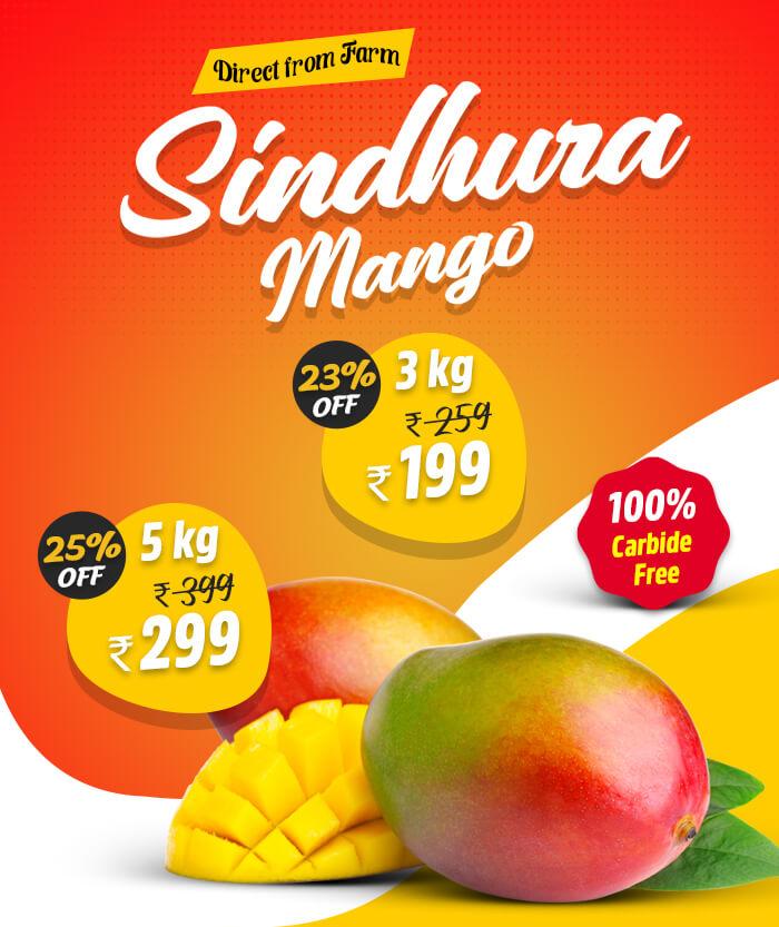 Sindhura Mango fruits in Chennai