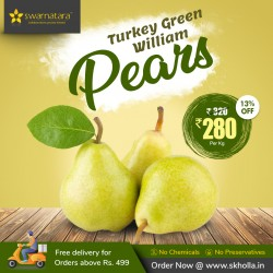 Buy Turkey Green William pears pack of 1kg Online In Chennai