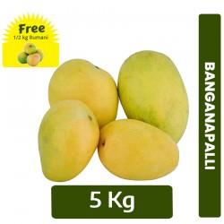 5kg Banganapalli Mango + FREE 1/2 kg Rumani