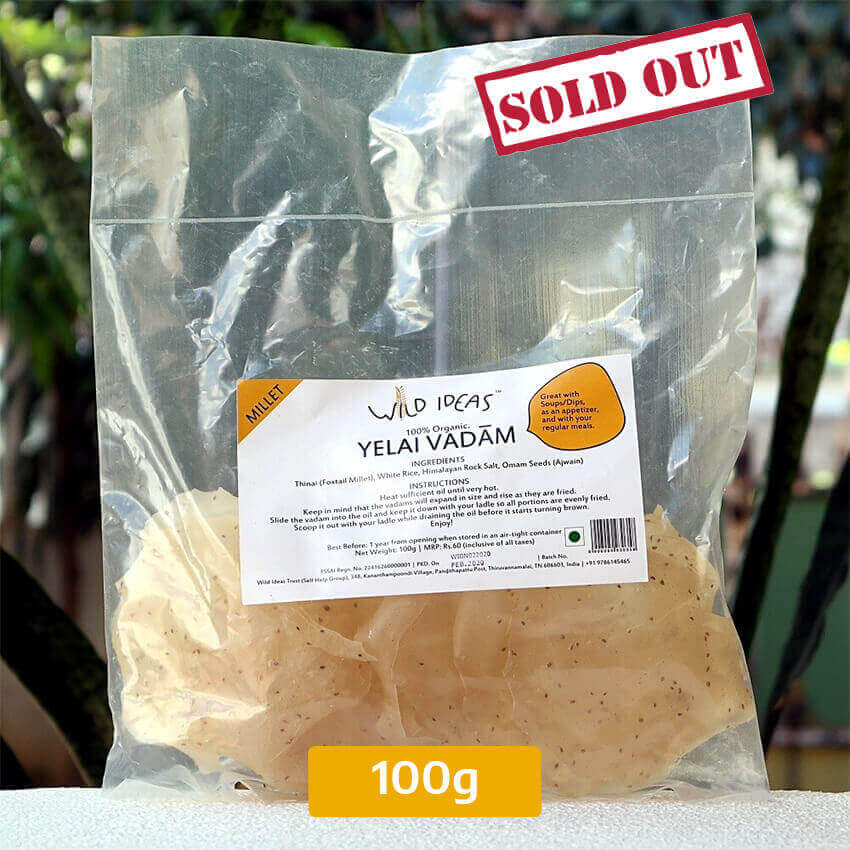 Buy Barnyard [Kudaravali] Millet Yelai Vadam 100g Pack Online In Chennai
